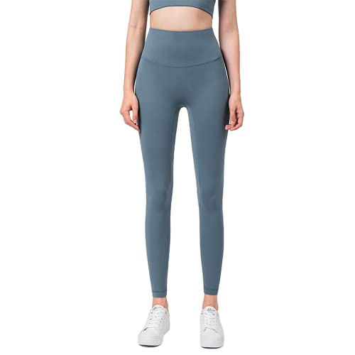 QTJY Pantalones de Yoga Suaves para Mujeres, Leggings, Pantalones Deportivos Deportivos de Cintura Alta para Correr para Mujeres, Pantalones de Yoga sin Costuras para Levantar la Cadera CL