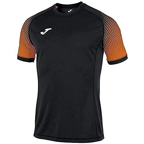 Joma Hispa Camisetas Equip. M/c, Hombre, Negro, S