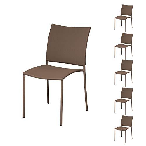Proloisirs Chaise de Jardin Design Bonbon (Lot de 6)