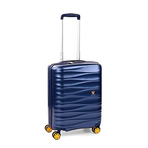 Roncato Trolley Cabina XS Rigido Stellar - Bagaglio a mano cm 55x40x20 L41 Ultra-leggero Resistente Organizer Interno Chiusura TSA Ideale per Ryanair Easyjet Lufthansa Garanzia 2