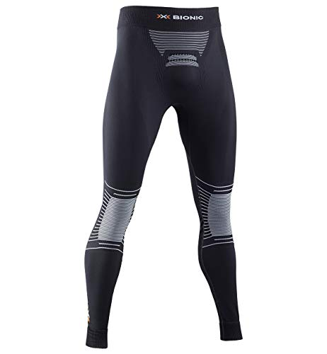 X-Bionic Energizer 4.0 Pants Men Pantalon de Compression Collant de Sport Homme, Opal Black/Arctic White, FR : M (Taille Fabricant : M)