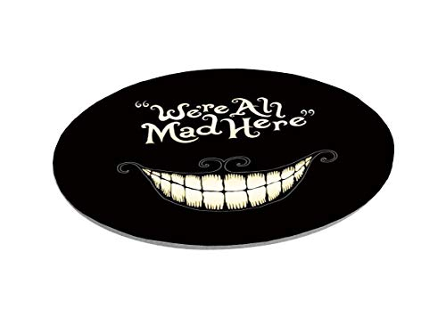 We are All Here Crazy Mouse Pad Game Mouse Pad Computer Mouse Pad Office Mouse Pad Round Non-Slip Smiley Mouse Pad (Smiley Mouse Pad) Photo #2
