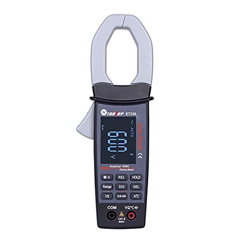 Pinza amperimétrica digital inteligente de valor eficaz verdadero Ticfox ET336 con osciloscopio multímetro con pantalla de forma de onda AC V/A