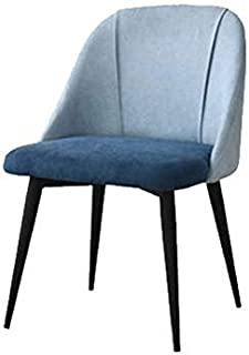 FDN Cocina Sillas De Comedor De Terciopelo,para Oficina Salón Comedor Cocina Habitación Habitación Hotel con Piernas De Acero Sillas De Sala Sillas de Comedor (Color : Blue, Size : Black Legs)