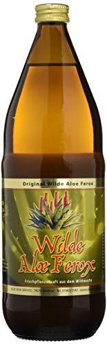Aloe Vera Gold Ferox Trinkgel wildwuchs mit Fruchtfleisch, 1000 ml