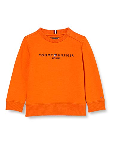 Tommy Hilfiger Jungen Essential Cn Sweatshirt Pullover, Bonfire Orange, 6