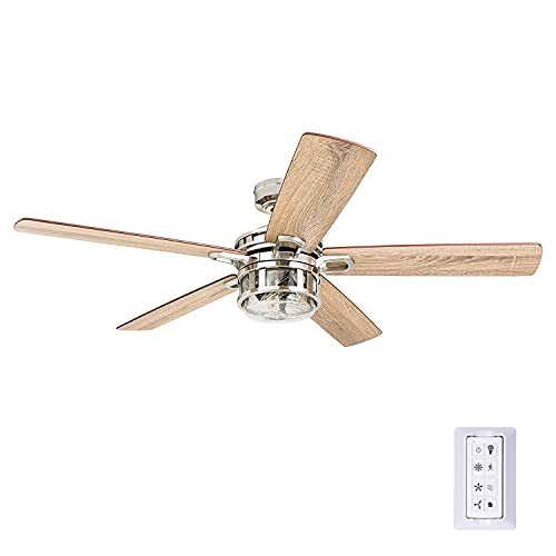 Honeywell Ceiling Fans 50610-01 Bonterra Ceiling Fan with Remote Control, Rustic LED...
