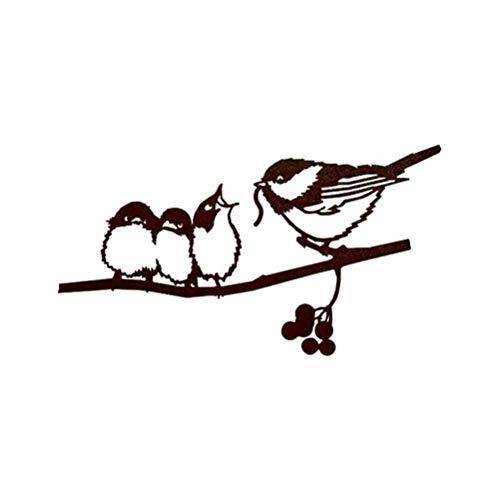 Gancho para flores bebedero para pájaros hierro fundido, montaje en pared resistente a la intemperie para pájaros silvestres decoración de jardín decoración de animales decoración