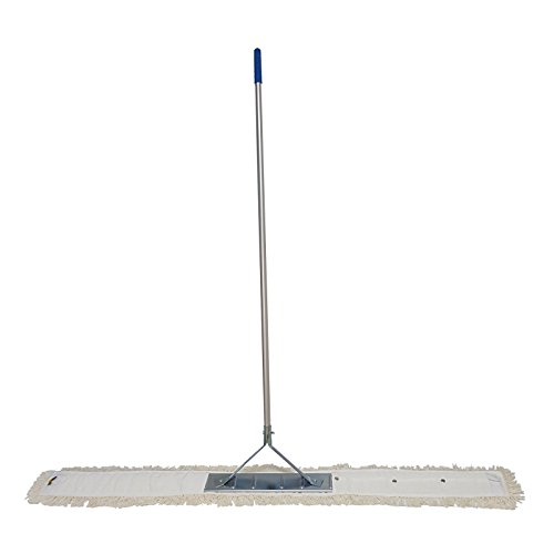 Wischset 160 cm 3-teilig ( 1 x Mopphalter 160 cm 1 x Alu-Stiel 140 cm 1 x Baumwollmopp ) Bodenwischset Wischerset Bodenwischer Mopphalter starr Baumwolle
