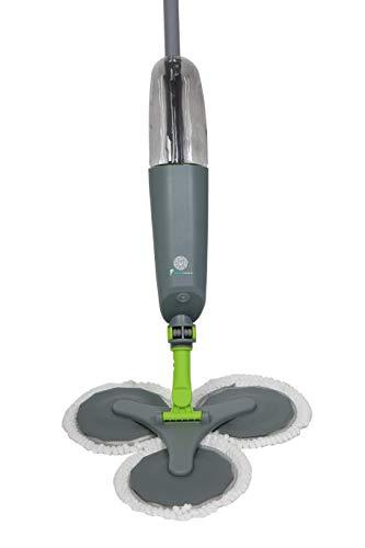 Spray Mop Lavapavimenti a Spruzzo, Vaporizzatore Disinfettante, Scopa Con Spruzzino Lavapavimenti, Mocio Lavapavimenti Rotante di 360°, Igienizzante Spray, Mop Con capacità di 500ml (Grigio Verde)