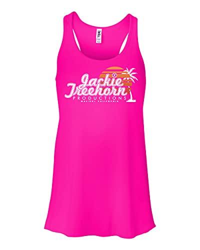 Camiseta regata feminina com costas nadador Jackie Treehorn Productions Big Lebowski, Rosa choque, XXL
