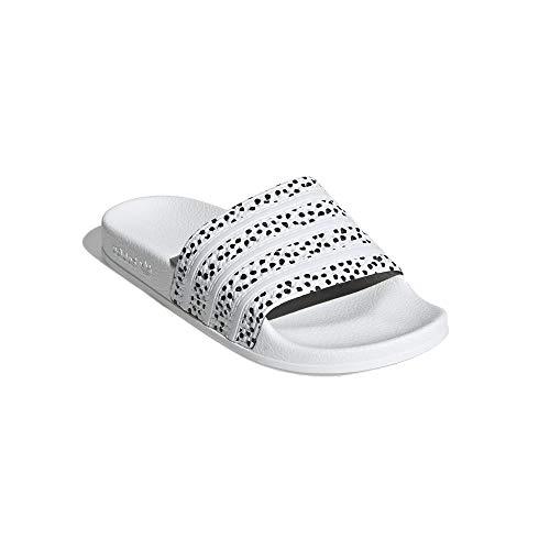 adidas Women Adiletten Badelatschen (White/Black, Numeric_40_Point_5)