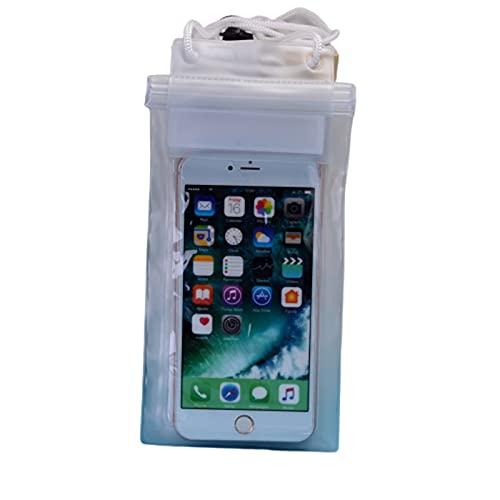 Resbalón del Teléfono a Prueba de Agua, Teléfono Móvil Bolsa A Prueba De Agua Y Impermeable, Pantalla Táctil Natación Protección De Cubierta De Buceo Bolsa Sellada Especial 2 Piezas (Color : White)