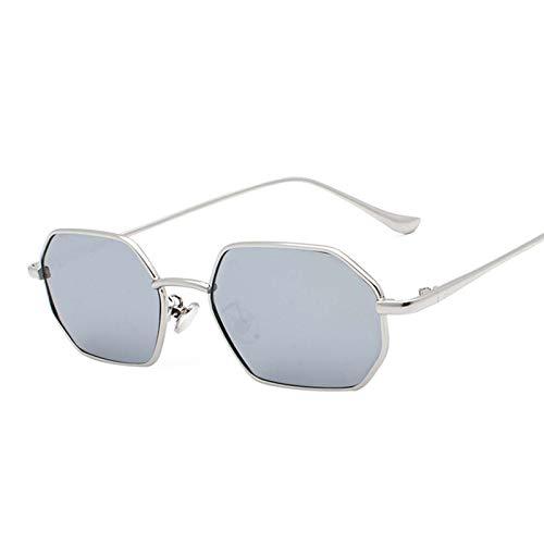 AMFG Gafas de sol Poligonal Metal METAL HOMBRES Y Mujer Gafas de sol Tendencia Gafas Punk Travel Outdoor Driving (Color : B)