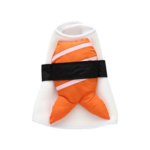 POPETPOP Sushi Costume da Compagnia Cane da Compagnia Sushi Cosplay Vestire Vestito Cane di Halloween Vestiti per Gatti Cucciolo Gattino Vestiti L