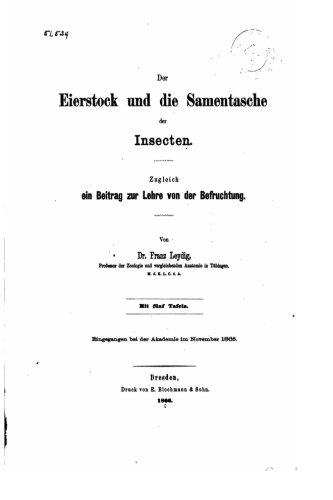 Der Eierstock und Die Samentasche der Insecten