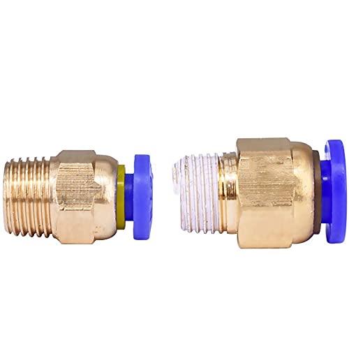 Basic Cellphone Cases Piezas CNC Conectores neumáticos de Acoplamiento para Piezas de impresoras 3D 1.75 / 3mm Tubo (Color : 2PCS, Size : PC6 01)