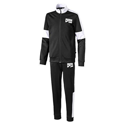 PUMA Jungen Rebel Suit cl B Trainingsanzug, Black, 164