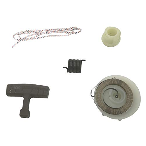Cancanle Molla di ritrazione Starter puleggia Hub Corda Riparazione Kit per Husqvarna 137 142 E 235 236 240 E Motosega