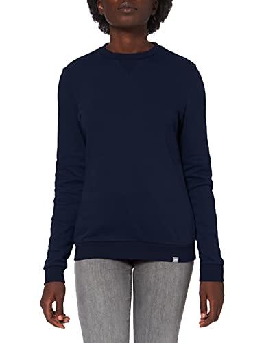 CARE OF by PUMA Felpa girocollo da donna a maniche lunghe in spugna, Blu (Blue), 42, Label: S