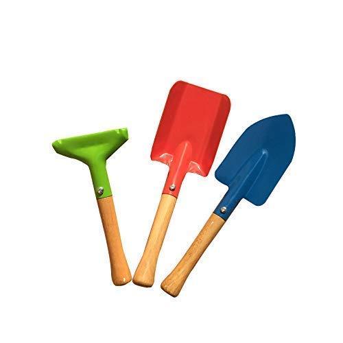 LLSS Ensemble de Pelle de Jardinage, Kits de Jardinage pour intérieur 3 pièces Ensemble Petite Pelle à râteau et Pelle Jouets de Jardin pour Tout-Petits Enfants