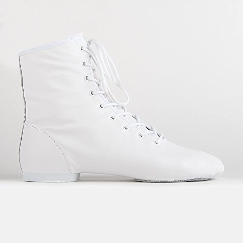 Rumpf 4127 Gardestiefel hoch geteilte Chro edersohle Leder Karneval Stiefel Weiß Größe 36