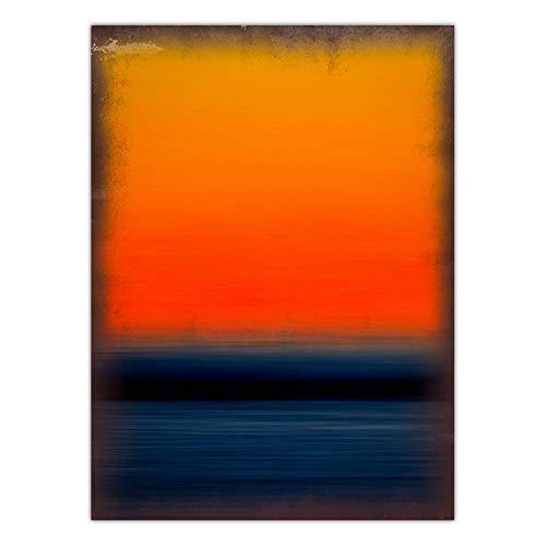 wtnhz Kein Rahmen Home Decoration Print Art Wandbilder für Wohnzimmer Poster Leinwand Druck Gemälde American Mark Rothko 60x80cm
