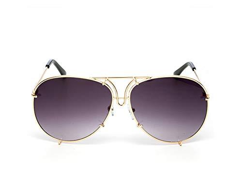 2019 Sonnenbrille für Damen und Herren, Pilotenantrieb, einzigartig, transparent, weiblich, Sonnenbrille Gr. Einheitsgröße, Yf90b Gold Gray