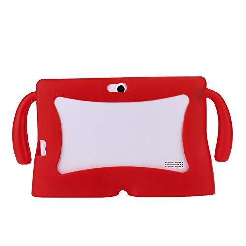 Universal Tablet Case 7 Inch Kids Funda Protectora de Gel de Silicona para 7 Pulgadas Android Tablet Q88 para Yuntab 7 Inch A23 A3-Rojo