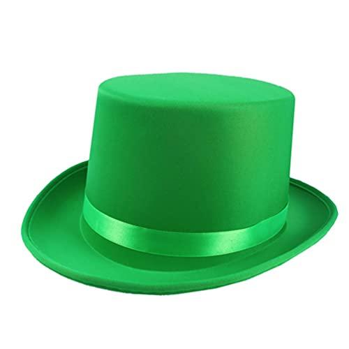WINOMO Top Hat for Irish St. Patricks Green Carnival Cap Party Cosplay Costume Headpiece Men Women Dress Up Accessory