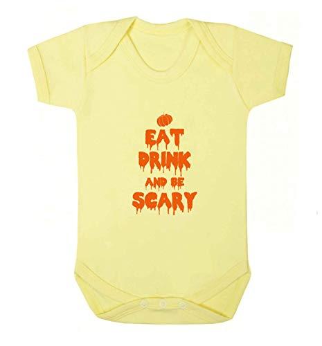 Flox Creative Baby Vest Eat Drink Scary - Jaune - XXL