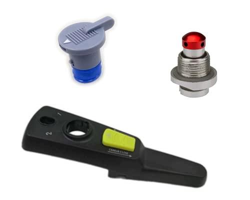 Pack Mango Monix Quick con válvula reguladora de presión y válvula de seguridad, compatible con...