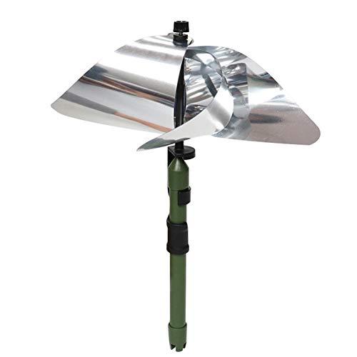 HUANRU Molino de viento reflectante para jardín y balcón, 1/3 unidades