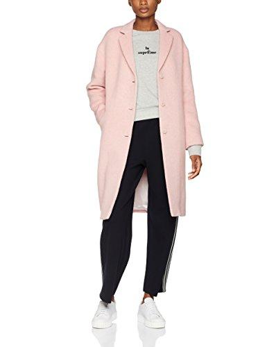 Filippa K Damen Parker Plush Wool Coat Mantel, Rosa (Powder Pink), 8 (Herstellergröße: Small)