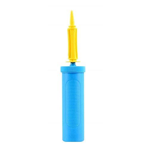 Voarge Pompa ad aria a palloncino, pompa ad aria a due vie, pompa ad aria a spinta manuale per feste o attività (blu)