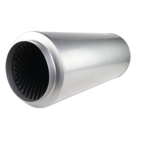 LABT Rohrschalldämpfer mit Akustikschaum Lüftung Zu und Abluft Durchmesser 250 mm Dämmstärke 50 mm Grow
