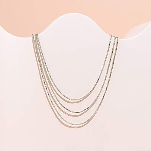 PAVOI 14K Gold Plated Layered Chain Necklace for Women | Layering Necklace