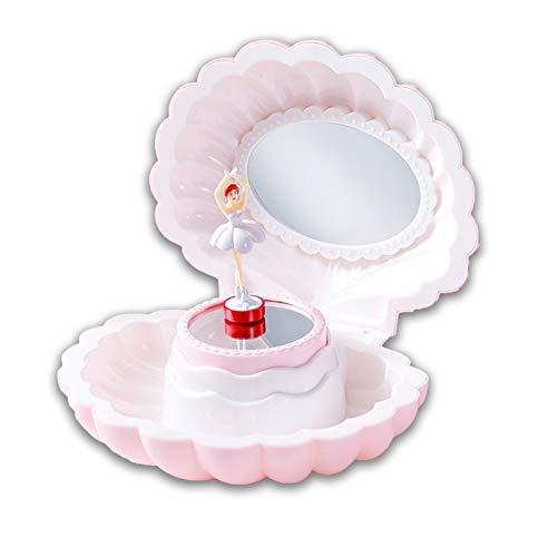 Earthily Caja de música Caja de música Chica girando y Bailando Ballet niña Princesa Shell para Dar a los niños un Regalo de cumpleaños para la Navidad (Color : Pink)