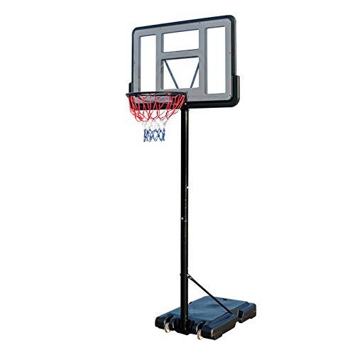 portátil Juego de Baloncesto, Canasta Baloncesto con Soporte Ruedas Soporte de Baloncesto Altura Ajustable para niños,A