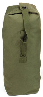 "Rothco Heavyweight Top Load Canvas Duffle Bag, Olive Drab, 30"" x 50"""