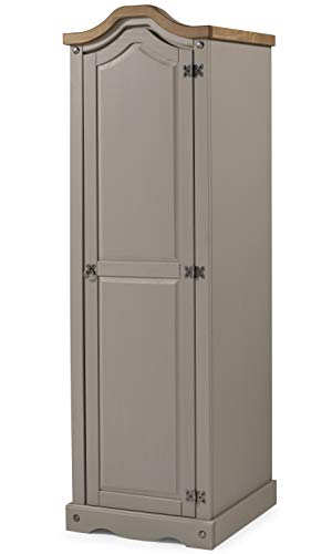 Mercers Furniture Trade Corona Grey Wax 1 Door Arch Top Wardrobe