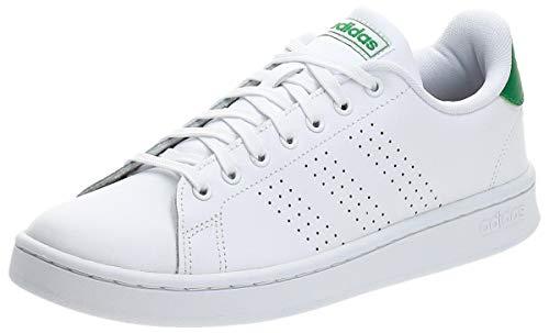 adidas Advantage, Scarpe da Ginnastica Uomo, Bianco (Ftwr White/Ftwr White/Green Ftwr White/Ftwr White/Green), 43 1/3 EU