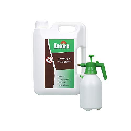 Envira Spinnen-Spray - Anti-Spinnen-Mittel Mit Langzeitwirkung - Geruchlos & Auf Wasserbasis - 2L + 2L Drucksprüher
