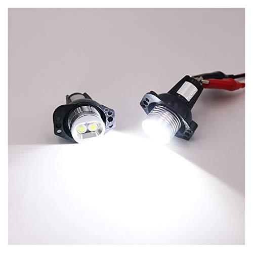 2 PCS LED Marcador for BMW E90 E91 Angel Eyes Led Light Bombilla Blanco 20W 2006-2008 3 Series E90 E91 Seadon Wagon Footlights Angel Eyes (Color : White)