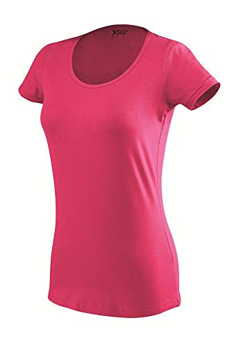 Eurowear Ladies Fitted T-Shirt Short Sleeve EF107 Fucsia