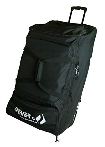 Driver13® Trolley Reisetasche mit Rollen, 92 cm x 45 cm x 46 cm 185 Liter schwarz