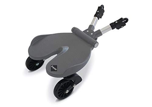 Bumprider board. Pedana universale per passeggini. La pedana universale Bumprider è la soluzione ideale per trasportare un bimbo in più. Si aggancia ad ogni tipo di passeggino. Colore grigio.