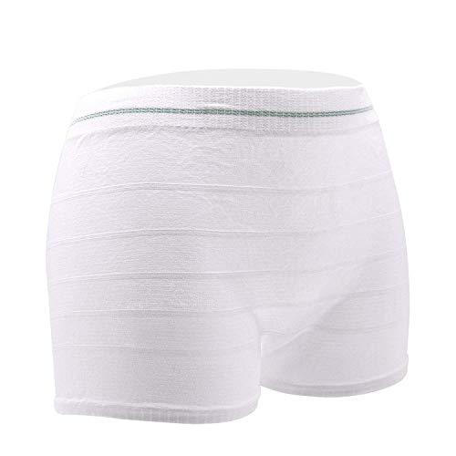 Bragas desechables de maternidad de hospital, bragas lavables de maternidad, sección C, ropa interior posparto (6 unidades) blanco blanco M-L