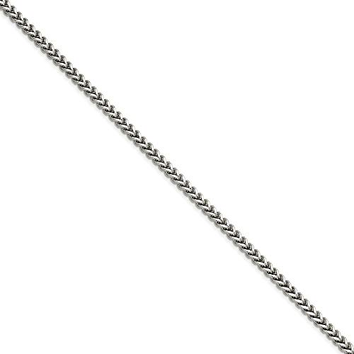 Stainless Steel Polished Fancy Lobster Closure 5.50mm Franco Chain Necklace Jewelry Gifts for Women - 61 Centimeters