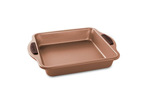 """Nordic Ware 48843 Freshly Baked Square Cake Pan, 9"""", Copper"""